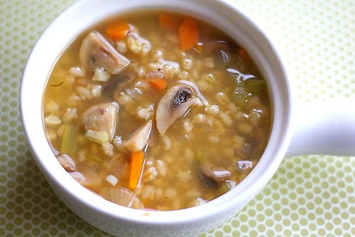 Mushroom Barley Soup is a healthy and hearty vegetarian soup! It is great for lunch or dinner!