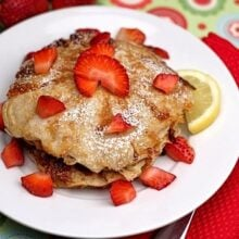 Marvelous Lemon Cottage Cheese Pancakes With Strawberries
