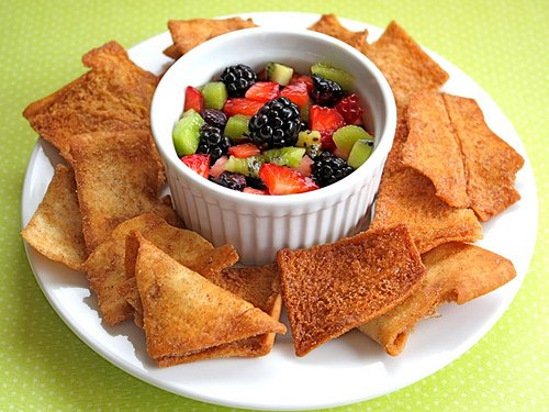 Fruit Salsa with cinnamon chips