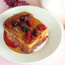 Stuffed French Toast on Plate Ready to Serve