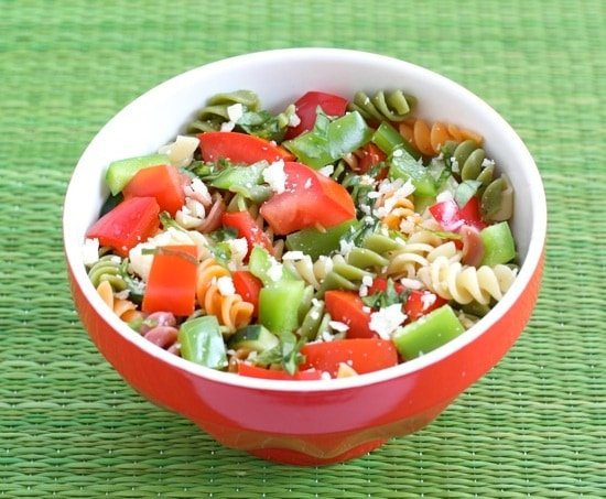 Healthy Summer Salads - vegetable pasta salad