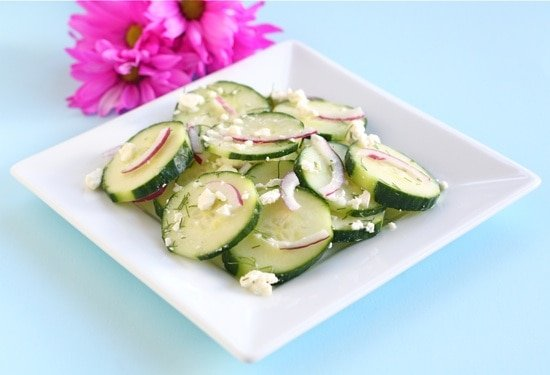 Healthy Summer Salads - cucumber salad