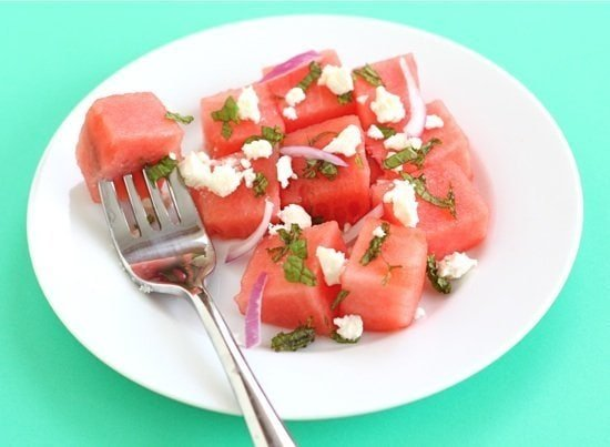 Healthy Summer Salads - watermelon feta salad