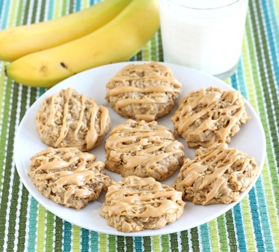 peanut butter banana honey cookies