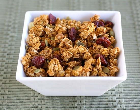 Pumpkin granola recipe is the perfect fall breakfast or snack