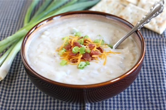Loaded Baked Potato Soup in Bowl
