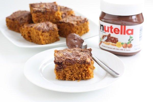 Pumpkin Nutella Snack Cake Recipe