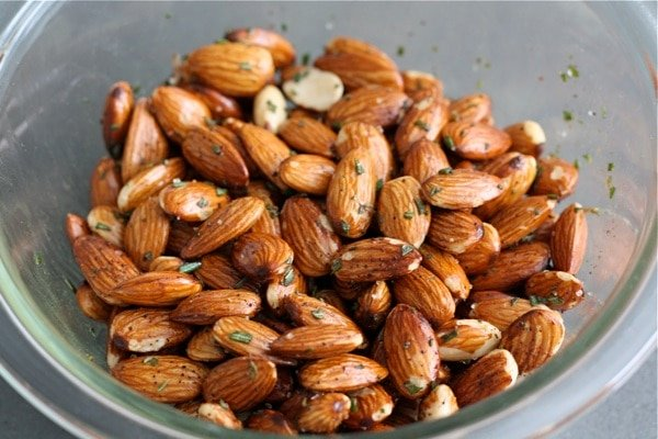 Rosemary Roasted Almonds - Two Peas & Their Pod