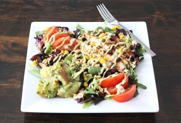 Summer Salads - bbq chicken salad