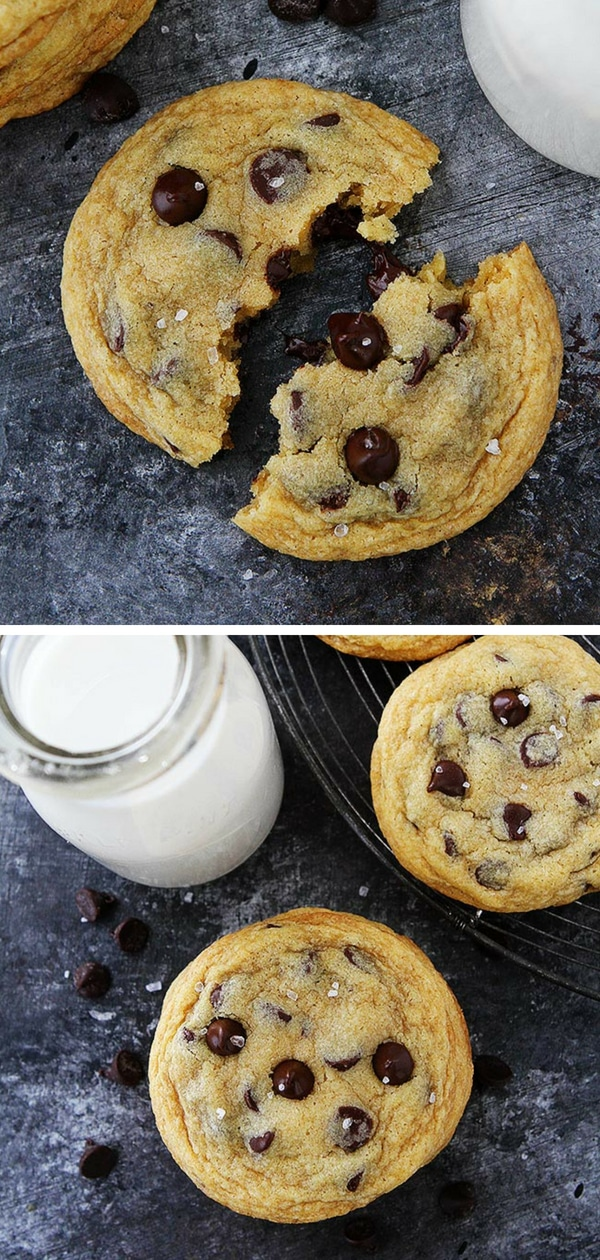Chocolate Chip Cookies with Pudding are the SOFTEST chocolate chip cookies Ever! Everyone LOVES these cookies! #cookies #baking #chocolatechipcookies #chocolatechip #easyrecipe #recipe Visit twopeasandtheirpod.com for more simple, fresh, and family friendly meals. #familyfriendlymeals