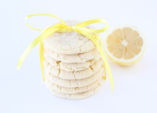 Lemon Sugar Cookies Stack