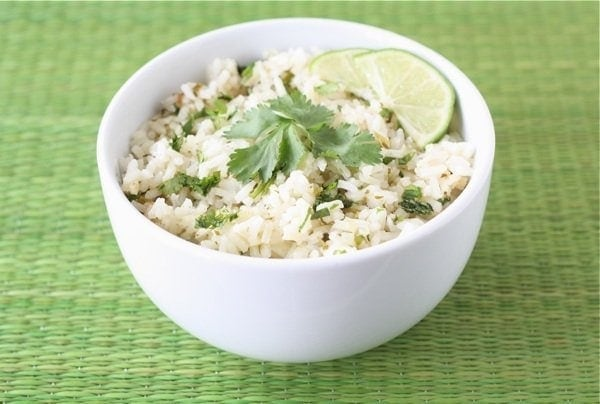 Cilantro Lime Rice in Bowl