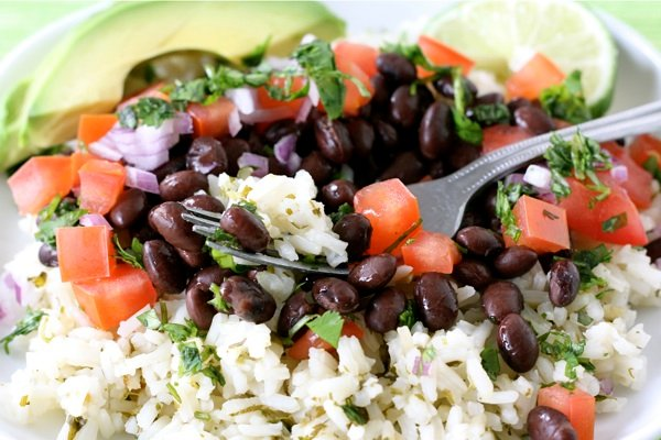 Mexican Rice Bowl Recipe on twopeasandtheirpod.com