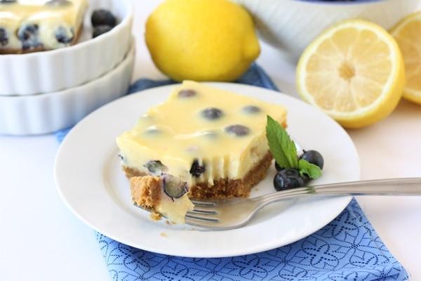 Easy Lemon Blueberry Bars