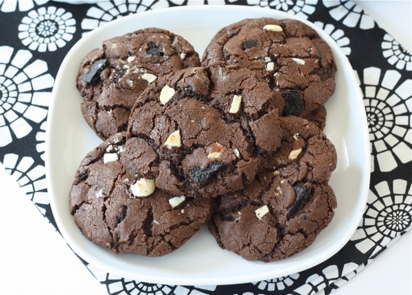 triple chocolate chip cookies recept