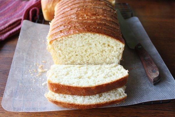 Brioche Bread Sliced on Cutting Board