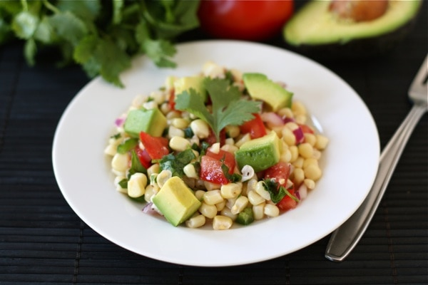 Healthy Summer Salads - grilled corn salad