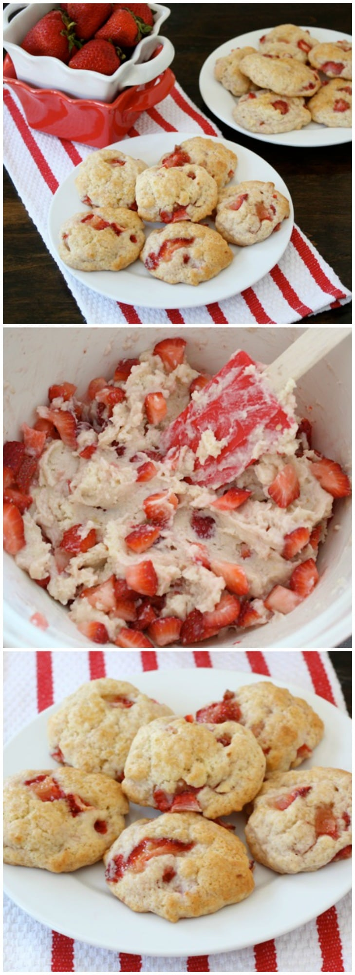 Strawberry Shortcake Cookies on twopeasandtheirpod.com If you like strawberry shortcake, you will LOVE these cookies!