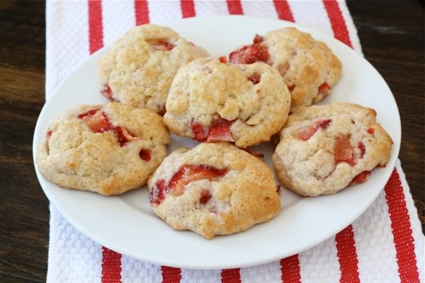 Strawberry Shortcake Cookies on plate