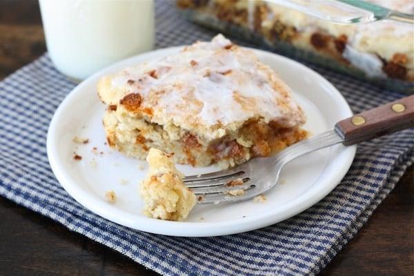 Gooey Cinnamon Biscuit Recipe from twopeasandtheirpod.com Easy cinnamon biscuits that taste like cinnamon rolls!