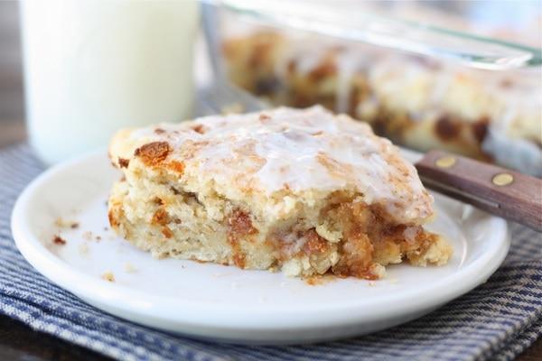 Gooey Cinnamon Biscuit Recipe from twopeasandtheirpod.com Easy cinnamon biscuits that taste like cinnamon rolls! #recipe