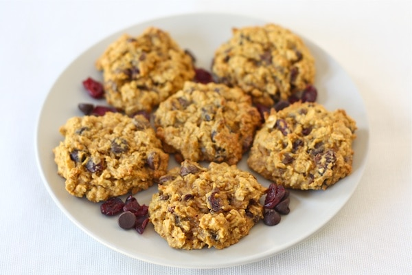 Pumpkin Oatmeal Cookies on plate