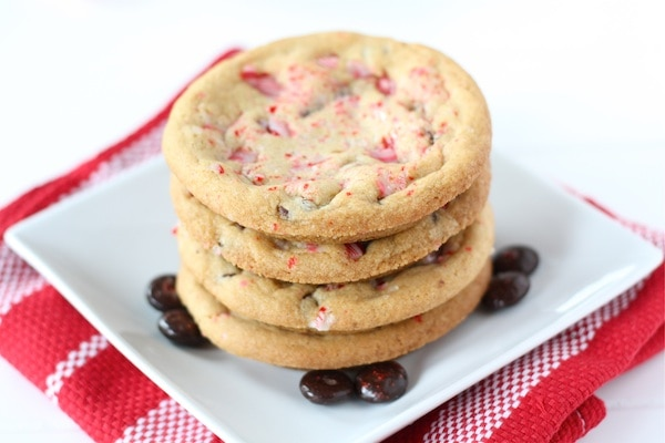 Chocolate Chip Peppermint Crunch Cookies Recipe