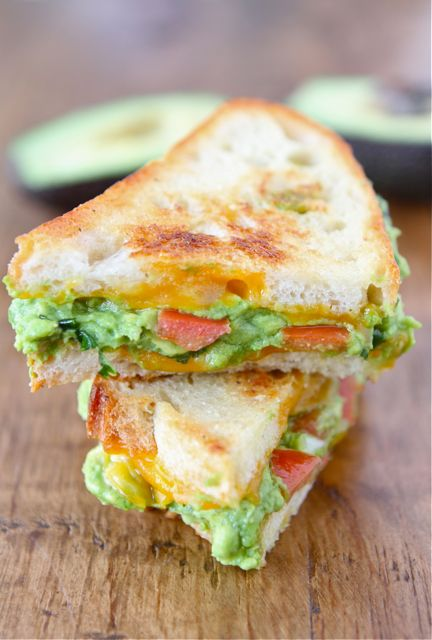 Guacamole Grilled Cheese Sandwich | Two Peas & Their Pod