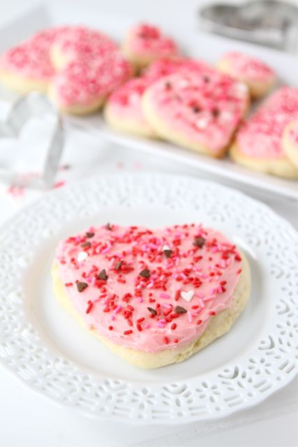 Lofthouse Cookie Recipe - Sugar Cookies on Plate