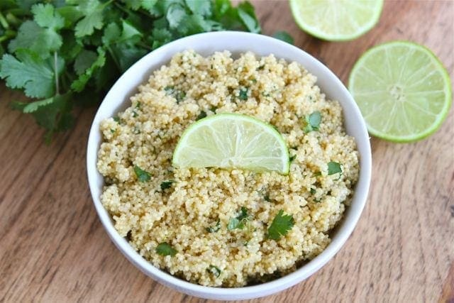 Quinoa recipe with cilantro lime, perfect for Mexican Food