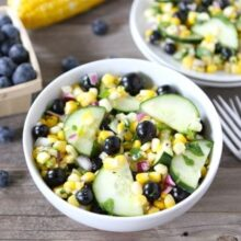 fresh corn salad made with farmer's market sweet corn