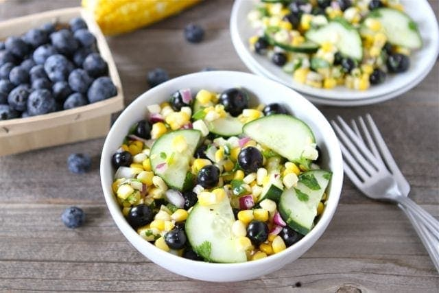 bowl of fresh corn salad