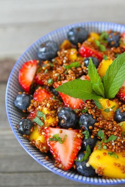 Easy Quinoa Fruit Salad is a great side dish for any meal