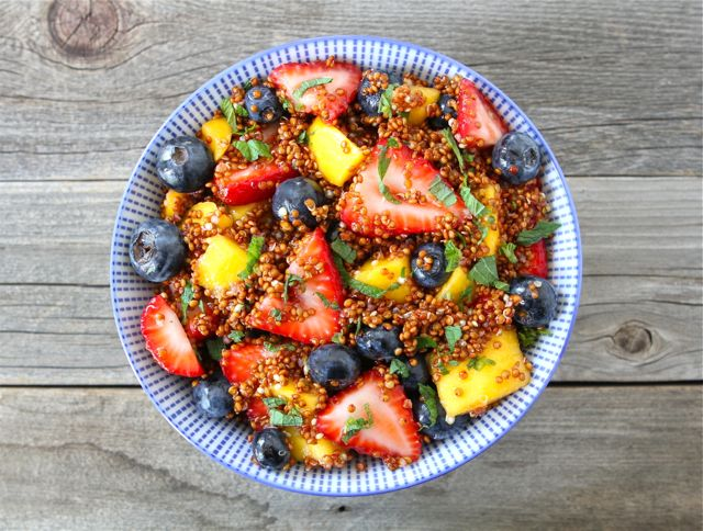 Quinoa Fruit Salad with Honey Lime Dressing an easy and healthy side dish for summer BBQ's and potlucks