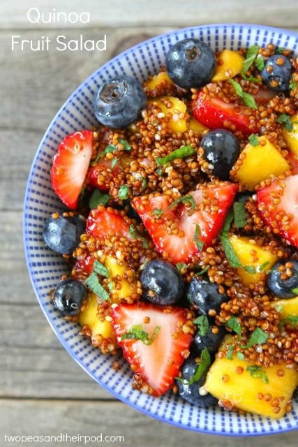 Quinoa Fruit Salad is simple, fresh, and healthy and the perfect side dish for summer.