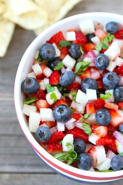fabulous fourth of july red, white, and blue salsa