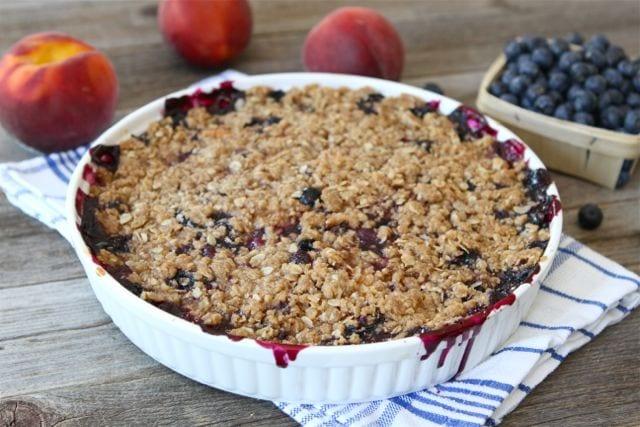 Blueberry Peach Crumble Recipe | Two Peas & Their Pod