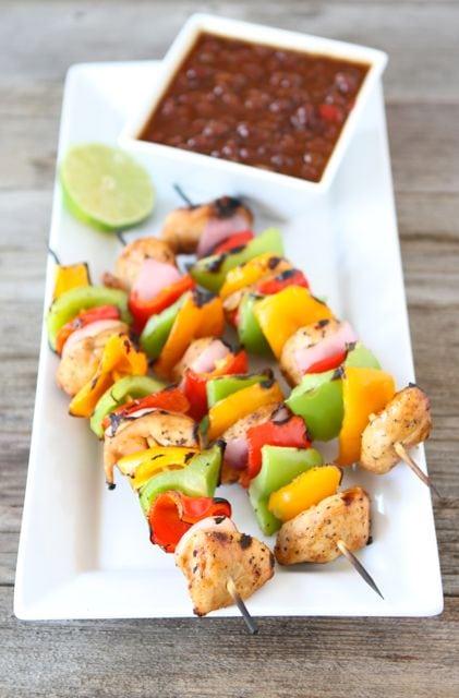 grilled chicken kabobs with spicy chicken kabob marinade