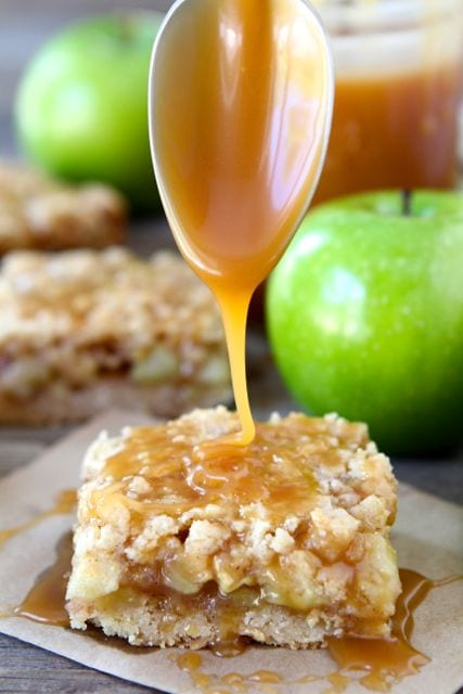 salted caramel apple crumb bars recipe