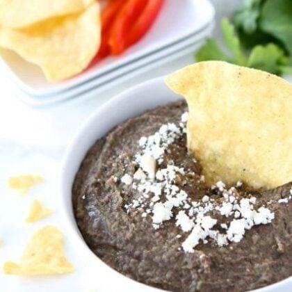 Black Bean Dip Recipe perfect for Super Bowl