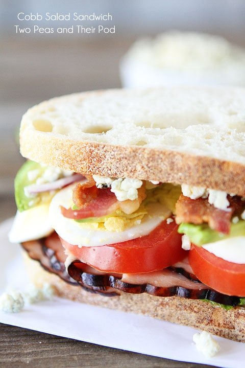 Cobb Salad Sandwich to use hard boiled eggs