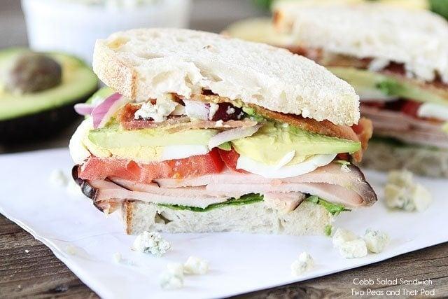 Cobb Salad sandwich with bleu cheese