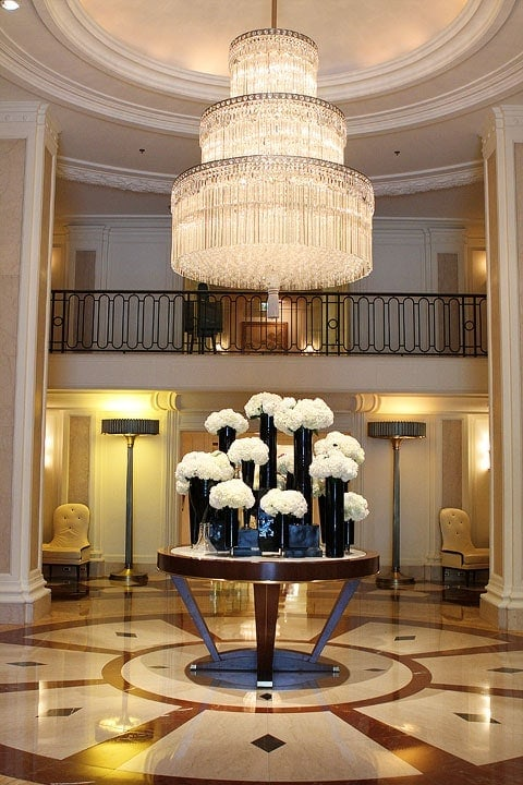Hotel Foyer Chandelier : Beverly wilshire hotel hills two peas