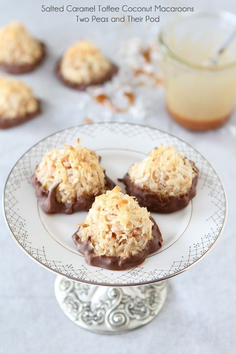 Salted Caramel Toffee Coconut Macaroons Recipe