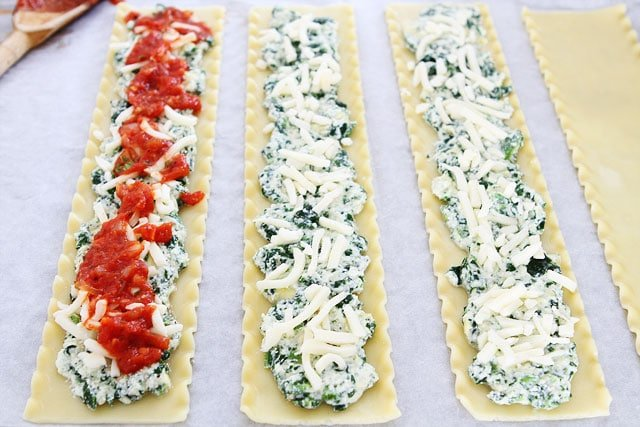 How to Make Spinach Artichoke Lasagna Roll Ups