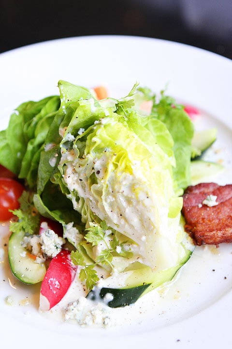 Boston Wedge Salad at Bambara Restaurant in Salt Lake City on twopeasandtheirpod.com