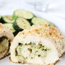 Stuffed Chicken Breast Recipe with Pesto and Mozzarella