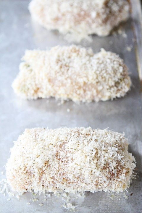 Panko-crusted stuffed chicken breast recipe