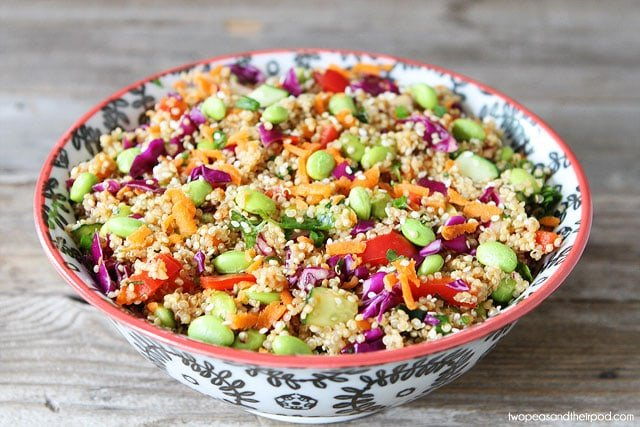 Asian Salad with quinoa and edamame