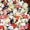 Tortellini Salad that is Greek Inspired